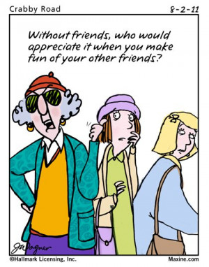 Maxine Cartoon on Friends