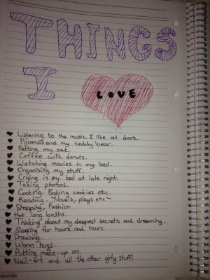 Things I love Love Love Quotes