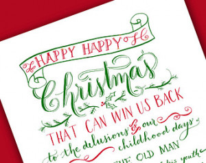 ... Charles Dickens Quote, Christmas, Letterpress Christmas Card
