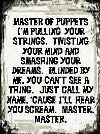 of puppets metallica more metallica songs lyrics puppets metallica ...
