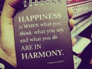 Mahatma Gandhi Inspirational Quote on Happiness
