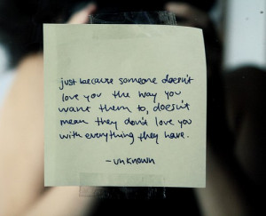 Just because someone doesnt love you Love quote pictures