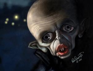 Caricatura de Klaus Kinskio Nosferatu jpg