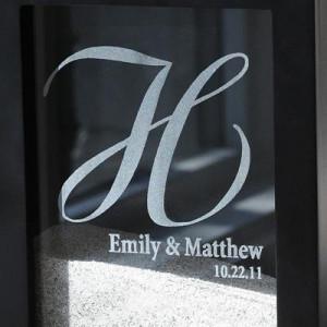 Home » Engraved Wedding Unity Sand Ceremony Shadow Box Set