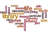 Wordle: Gloria Estefan quote about libraries