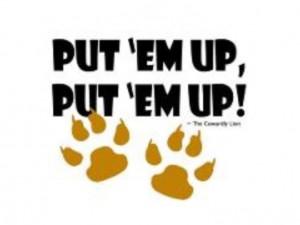 Put 'me Up, Put 'me Up.
