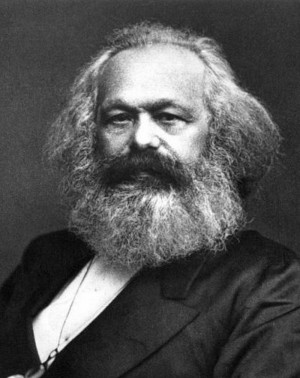 Revolutionary leadersFrederick Engels and Karl Marx, authors of the ...
