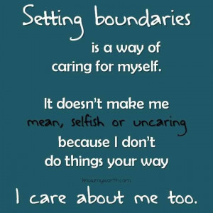 Boundaries--Need to remember this!