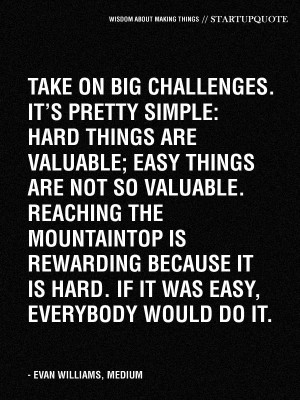 If it was easy, everyone would do it