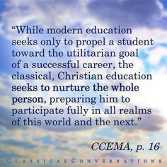 Christian education seeks to nurture the whole person. #Homeschool ...