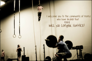 People who crossfit are a different breed than most. Our motivation is ...