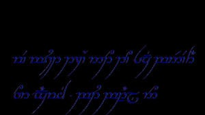 Lord Of The Rings Elvish Quotes A big hp fan (and lotr,