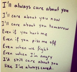 ll always care
