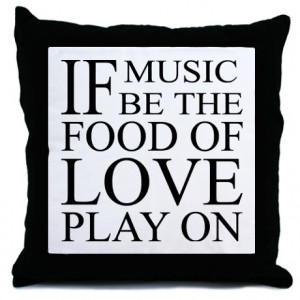 Pop Culture More Fun Stuff Music Food Love Quote Throw Pillow