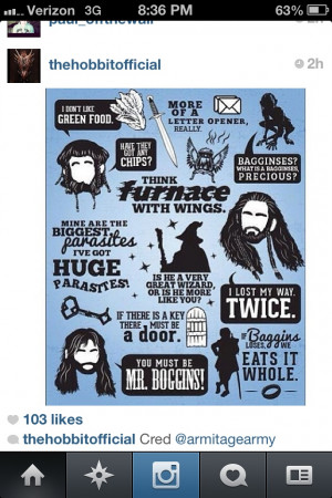 Great quotes from The Hobbit
