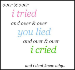 break my heart over & over