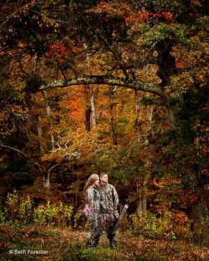 ... couple #engagementhuntingphoto Engagement photo of hunting couple