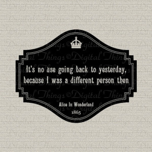 Alice In Wonderland Quote Lewis Carroll Typography Digital Download ...