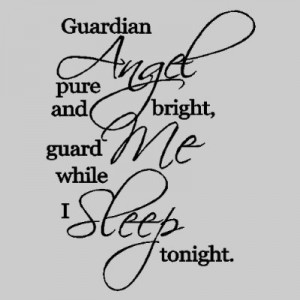 Guardian Angel...Nursery Wall Quotes Words Sayings Removable Wall ...
