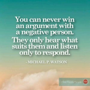 Negative people. (Unfortunately, true, although this should say ...
