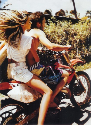 blonde, boy, couple, denim, girl, hair, legs, light, motorcycle ...
