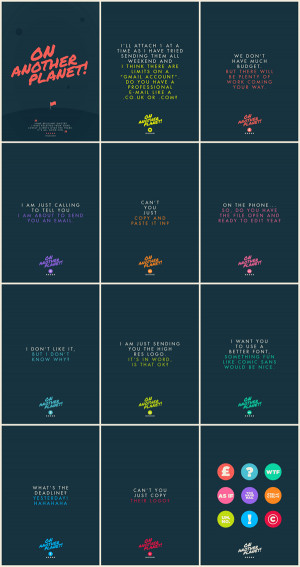 Client Quotes Poster Collection by Jonathan Quintin