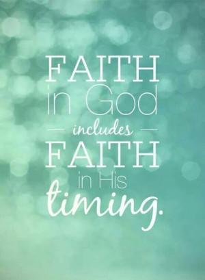 Faith in God †