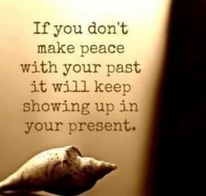 Making Peace.....