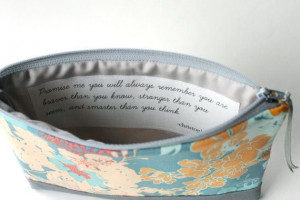 Cosmetic Clutch Purse with Inspirational Quote