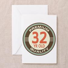32nd Birthday Vintage Greeting Card for
