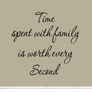 Time Spent with Family Is Worth Every Second Art Quote Vinyl Letters ...