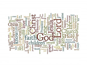 Word Cloud for October LDS General Conference