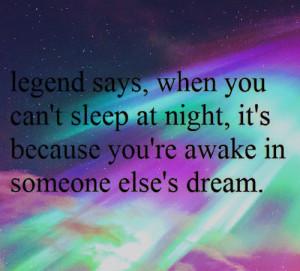 awake, dream, northern light, quote, sleep, stars
