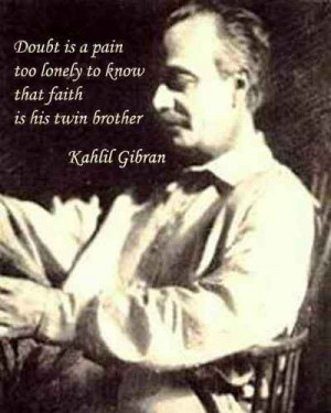 Best Quote by Kahlil Gibran with Image !!