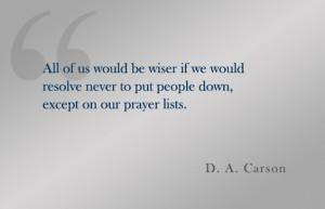 Quote: D. A. Carson
