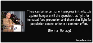 progress in the battle against hunger until the agencies that fight ...