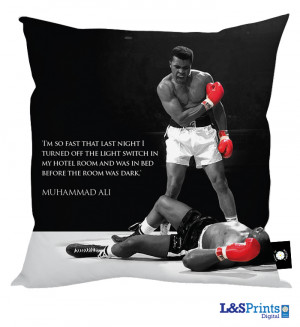 Muhammad Ali Quote #5' 'Cushion