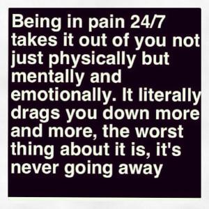... hope that someday it goes away! Life with Fibromyalgia/ Chronic Pain