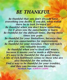 being thankful quotes and sayings | Being Thankful :-) More