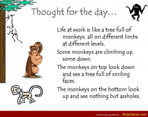 Life at work is like a tree full of moneys…