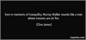 Even in moments of tranquility, Murray Walker sounds like a man whose ...