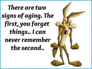 There are two signs of aging