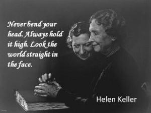 Inspiring quote from Helen Keller.