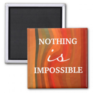 Motivational Magnet - 3 Word Quote Attitude