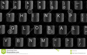 Keyboard quotes, keys shuffled to spell out key business ideas.