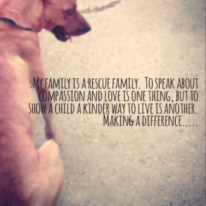 Rescued Dogs Quotes Dog rescue quote