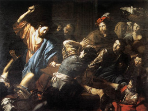 File:Valentin de Boulogne - Christ Driving the Money Changers out of ...