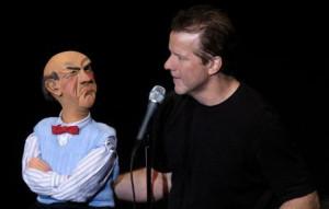 ... Codger shtick: Ventriloquist Jeff Dunham chats with intolerant Walter