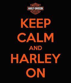 Harley on! Brap! More