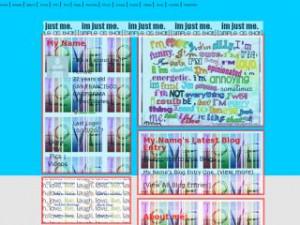 Plain Blue Color - Quotes MySpace Layout Preview